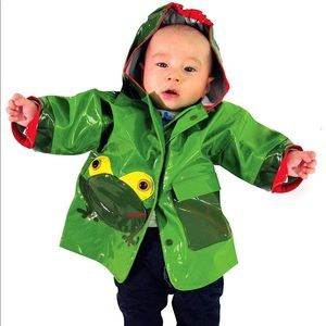 Kidorable Green Frog PU All-Weather Raincoat Boys